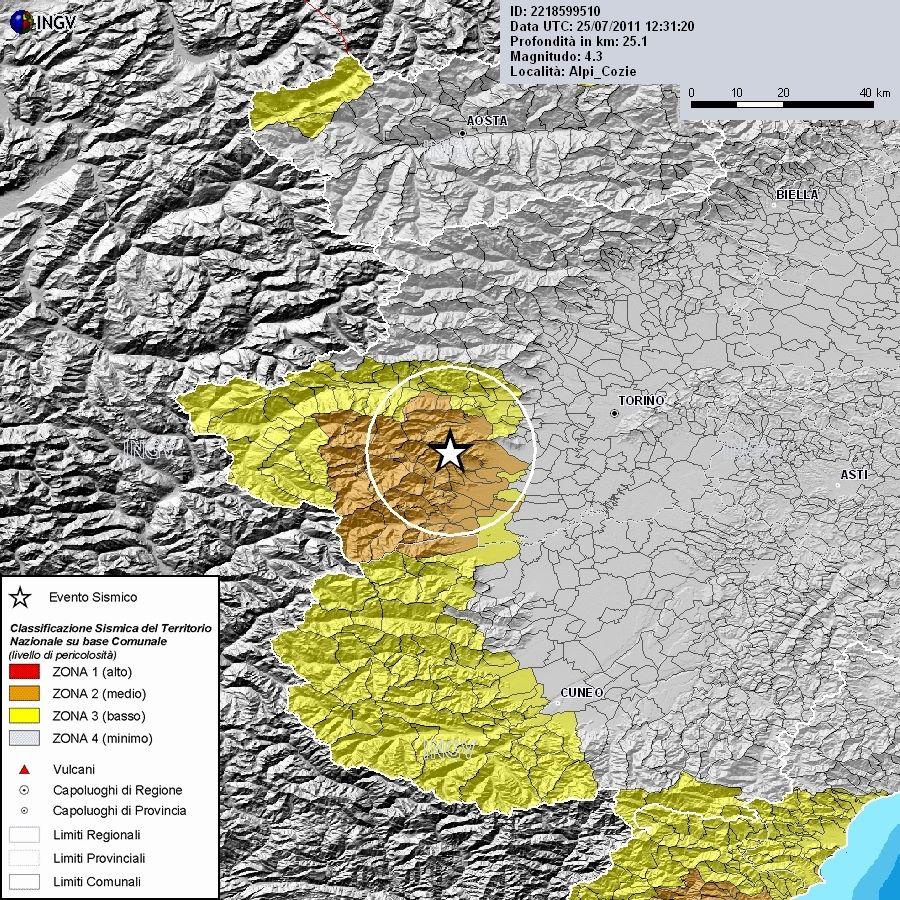 Foto terremoto Piemonte